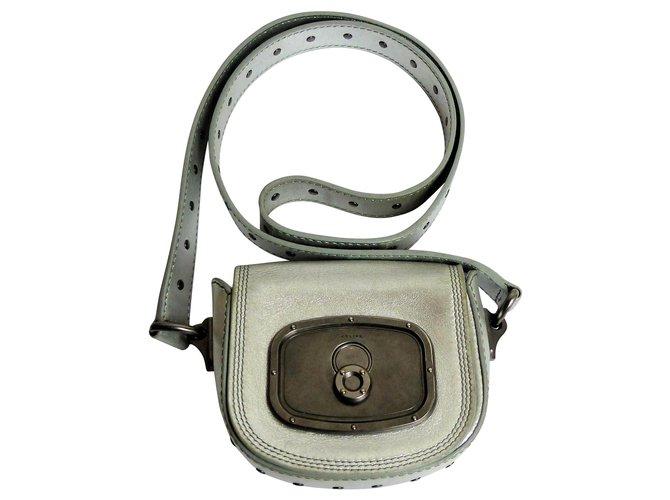 Céline Clutch bags Clutch bags Leather Silvery ref.135497