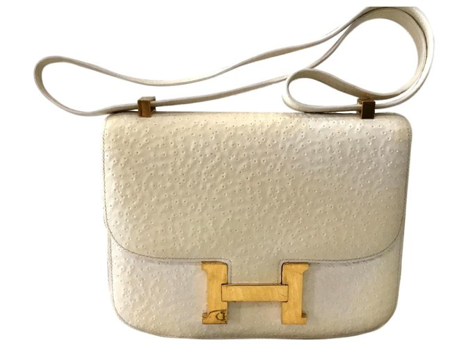 Hermès Constance Beluga Handbags Exotic leather White ref.135557