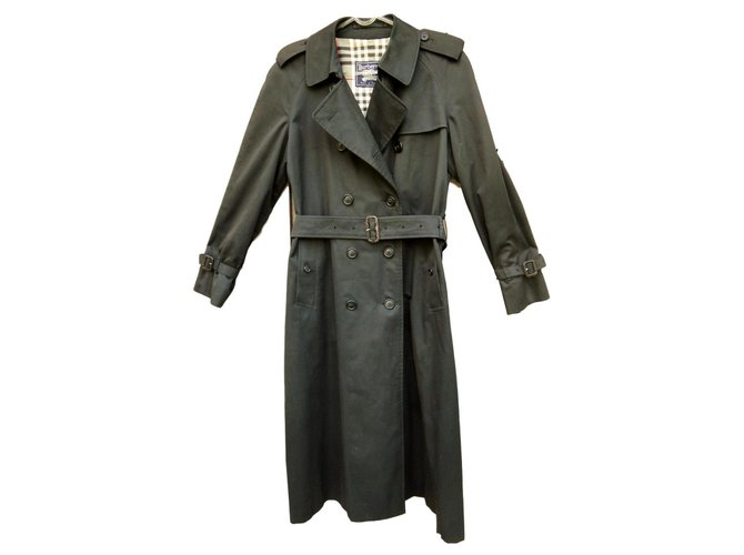 Burberry vintage Burberry trench 38/40 Trench coats Cotton,Polyester Black ref.135680