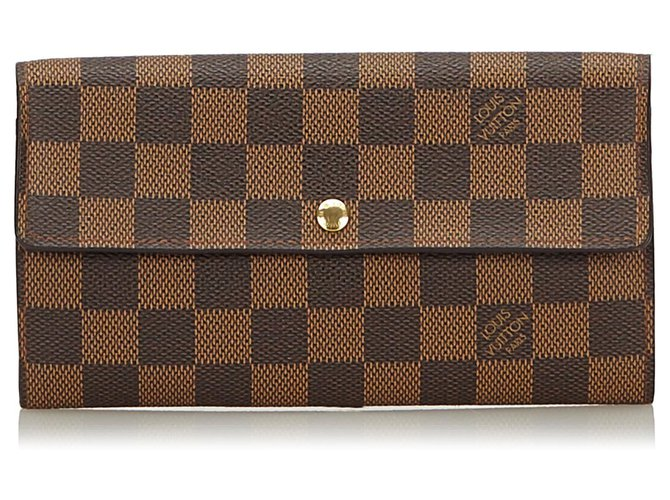 145e03e204f Louis Vuitton Brown Damier Ebene Sarah Wallet