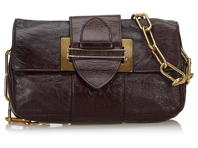 Chloé Chloe Black Leather Chain Shoulder Bag Handbags Leather,Other Black ref.135789