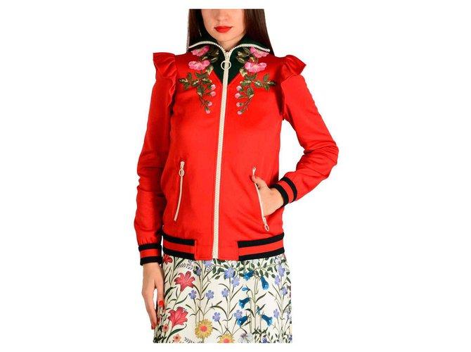 Vestes Gucci Gucci jacket new Autre Rouge ref.135811