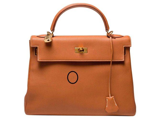 Hermès Kelly 32 Handbags Leather Caramel ref.135842