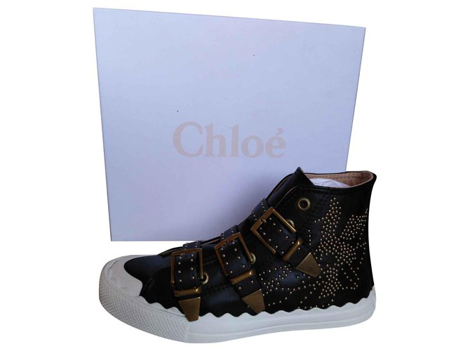 Chloé Susanna Sneakers Leather Black ref.135870