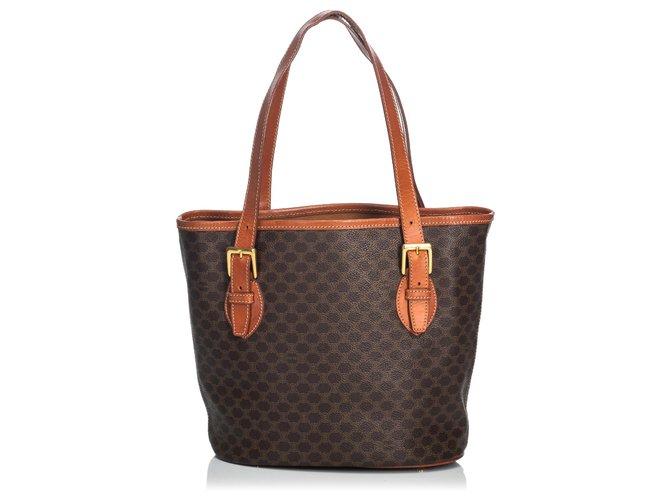 Céline Celine Brown Macadam Tote Bag Totes Plastic Brown ref.135959