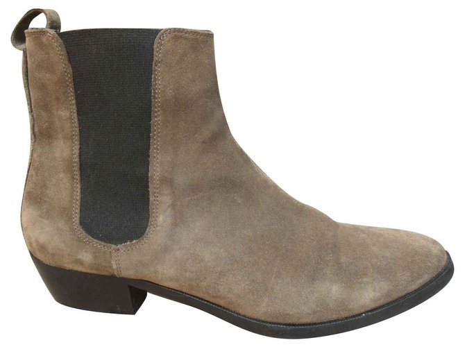 Burberry chesea Burberry suede boot Ankle Boots Deerskin Taupe ref.135990