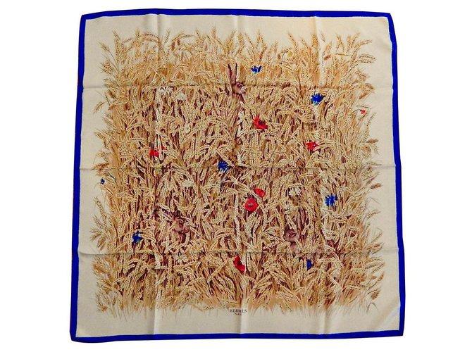 Hermès Wheat (Collector 1Era Edition 1956) Scarves Silk Multiple colors ref.136032