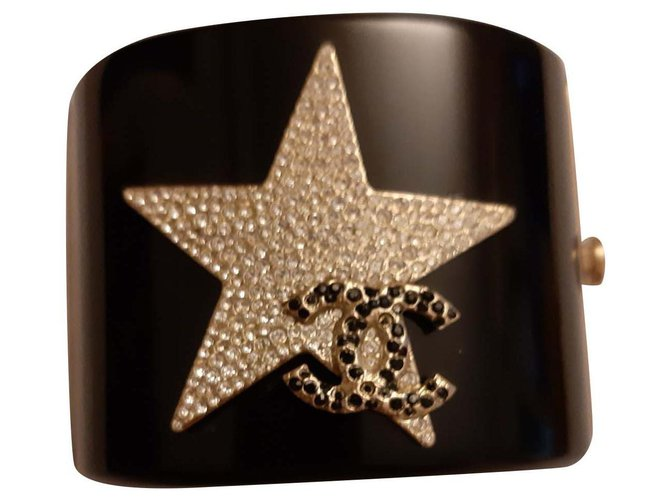 Chanel Bracelets Bracelets Metal,Plastic Black ref.136075