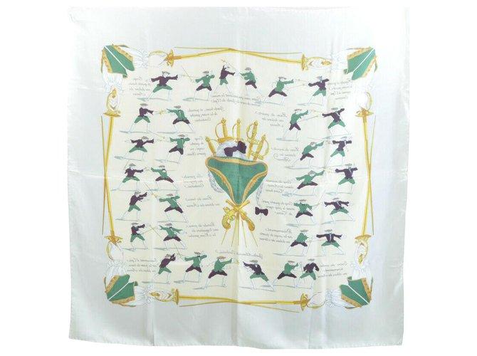 "Hermès Hermès Scarf ""Traité des Armes"" Silk scarves Silk Grey ref.136112"