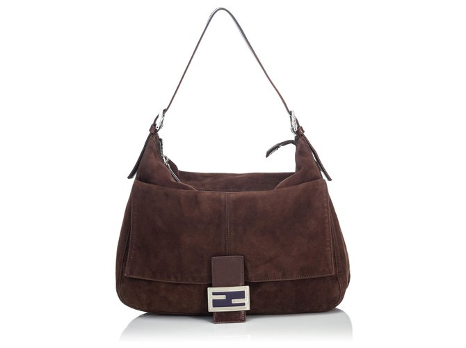 0a8cd4c4 Fendi Brown Suede Mamma Shoulder Bag