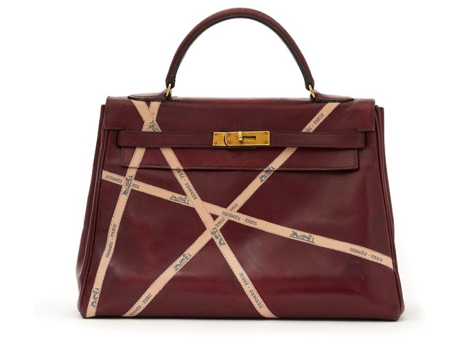 Hermès Kelly 32 RED HERMES BOLDUCS UNIQUE Handbags Leather Dark red ref.136211