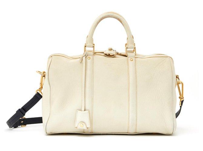 Louis Vuitton SPEEDY STRAP 35 Sofia Coppola Handbags Leather,Metal Golden,Cream,Navy blue ref.136258