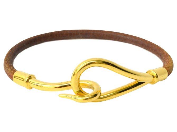 Hermès Hermes Jumbo Bracelet Bracelets Gold-plated Brown ref.136288