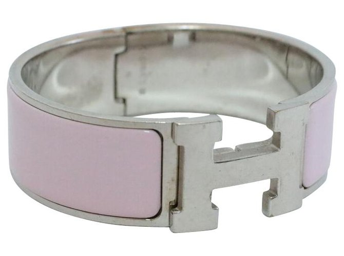 Hermès Hermès Bangle Bracelet Bracelets Silver Pink ref.136293