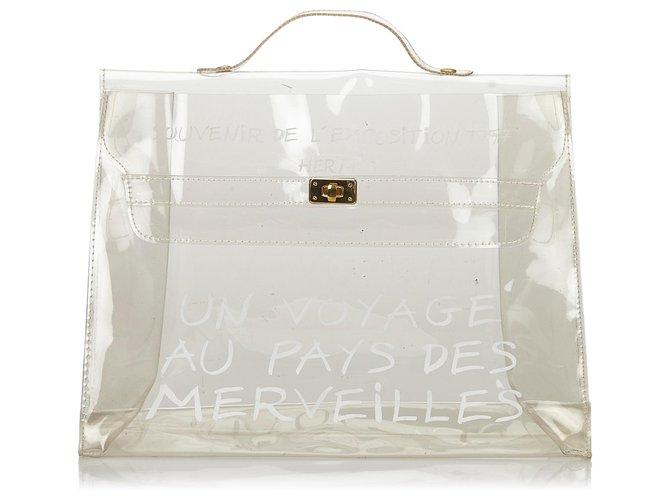 Hermès Hermes White Vinyl Kelly Handbag Handbags Other,Plastic White ref.136304