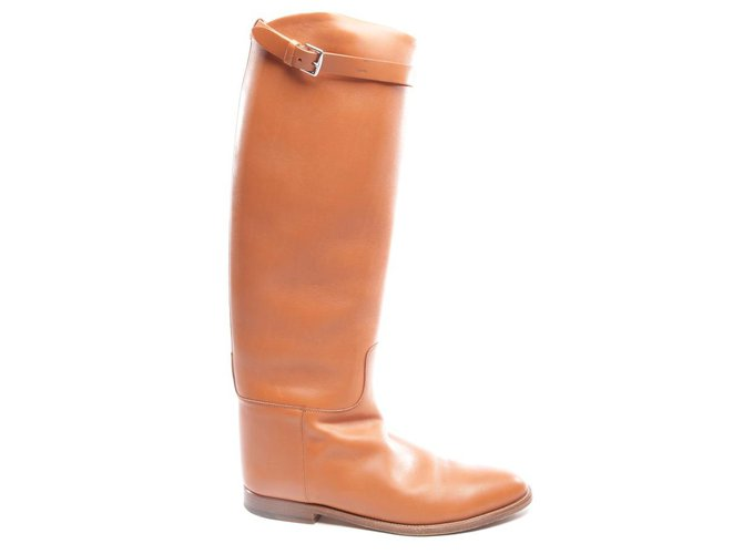 Hermès Iconic Jumping Boots Boots Leather Cognac ref.136310