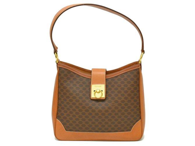 Céline Céline Macadam Shoulder Bag Handbags Cloth Brown ref.136433