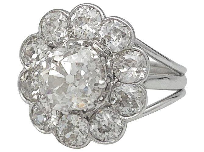 Bagues Bague marguerite diamants en or blanc et platine Or blanc,Autre Autre ref.136460
