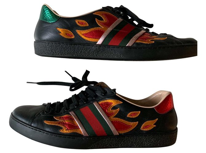 Gucci Gucci ace flames Sneakers Leather
