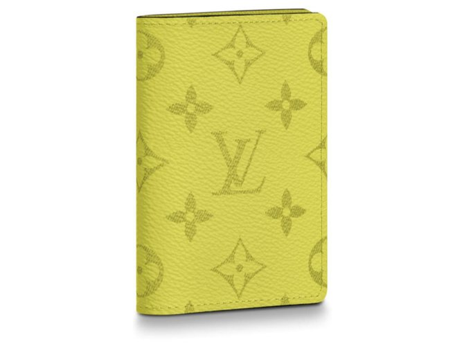 Louis Vuitton Louis Vuitton mens wallet Wallets Small accessories Leather Yellow ref.136470