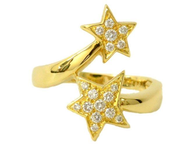 Bagues Chanel Bague Chanel Comete Star Diamant Or jaune Doré ref.136537