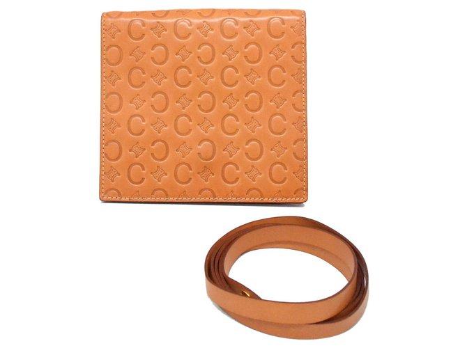 Céline Céline Macadam Wallet Purses, wallets, cases Leather Brown ref.136538