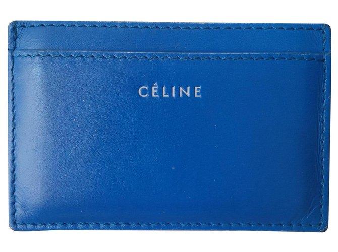 Céline Purses, wallets, cases Purses, wallets, cases Leather Blue ref.136611