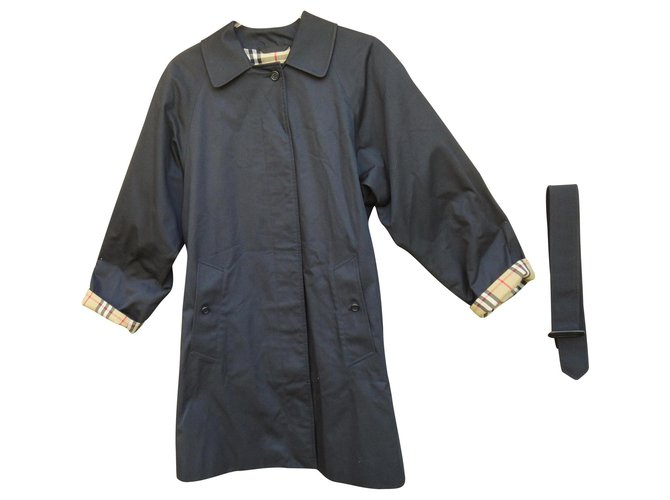 Burberry waterproof Burberrry Markfield model Trench coats Cotton,Polyester Black ref.136703