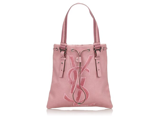 35088e633c3 Yves Saint Laurent YSL Pink Canvas Kahala Tote Bag Totes Leather,Other,Cloth ,