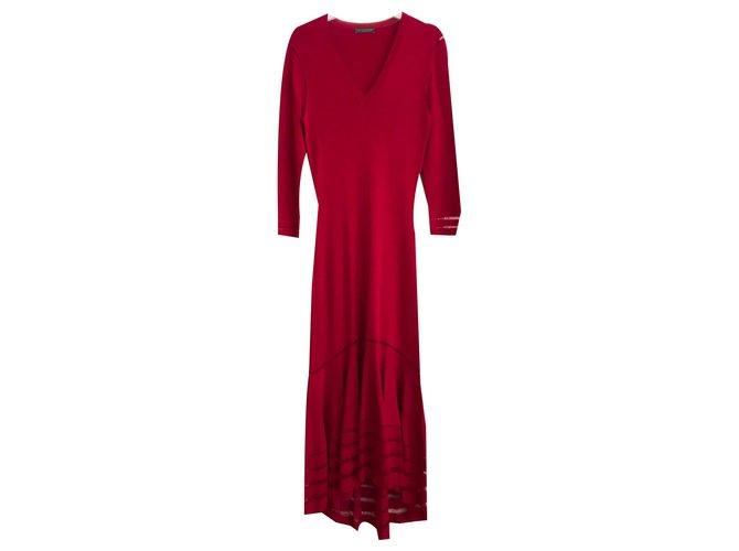 Alexander Mcqueen Beautiful Pink Dress Fuschia Viscose  ref.136853