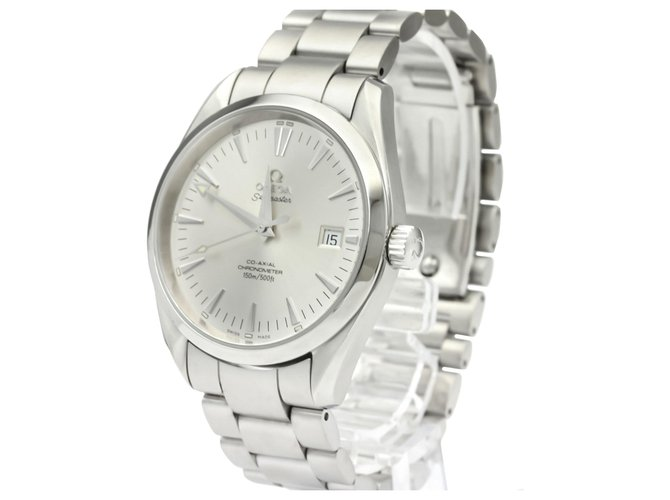 Omega Omega Silver Stainless Steel Aqua Terra Co-Axial Automatic 2503.30 Fine watches Steel,Metal Silvery,White ref.136925