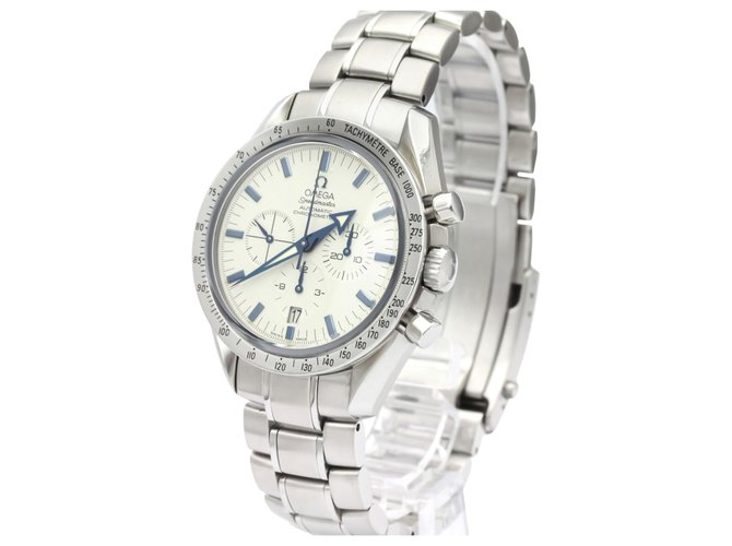 Omega Omega Silver Stainless Steel Speedmaster Broad Arrow Automatic 3551.20 Fine watches Steel,Metal Silvery,White ref.136980