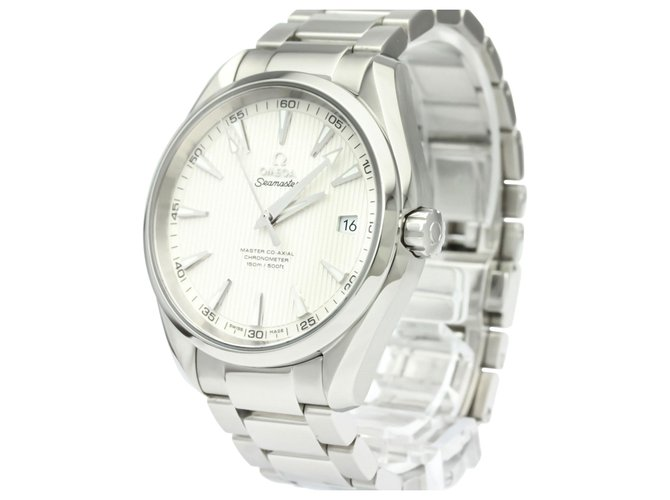 Omega Omega Silver Stainless Steel Seamaster Automatic 231.10.32.21.02.003 Fine watches Steel,Metal Silvery,White ref.136998