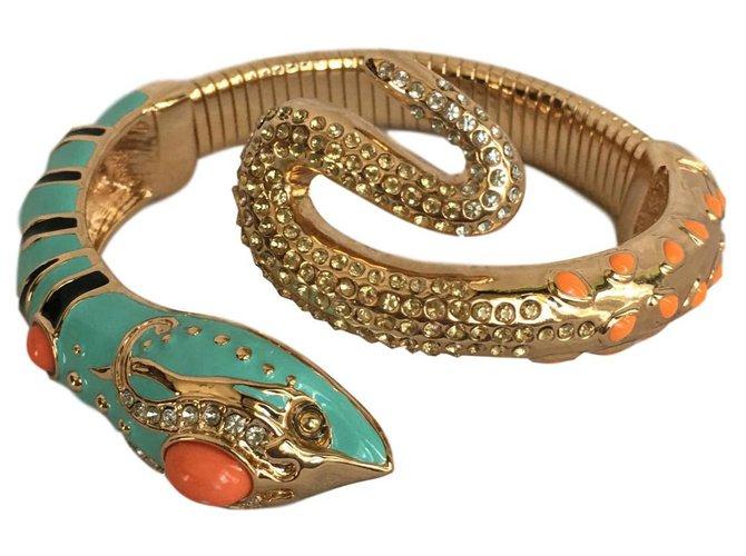 Anna Dello Russo pour H & M Snake bracelet Bracelets Metal Black,Golden,Coral,Turquoise ref.137324