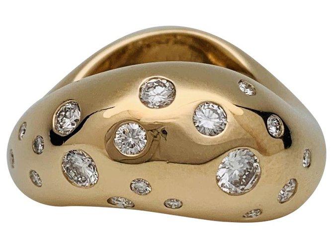 """Bagues Fred Bague Fred modèle """"Mouvementé"""" en or jaune, diamants. Autre,Or jaune Autre ref.137386"""