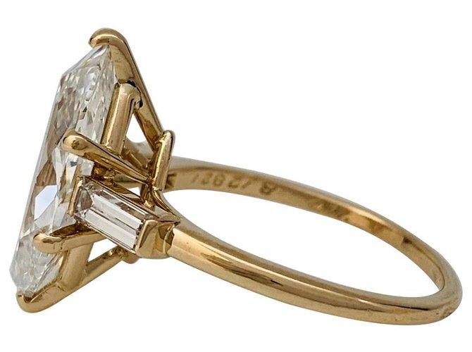 Bagues Cartier Bague Cartier en or jaune, diamant 3,15 carats. Autre,Or jaune Autre ref.137523