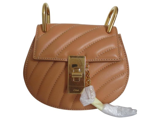 Chloé Chloé Drew Shoulder Bag Handbags Leather Caramel ref.137863