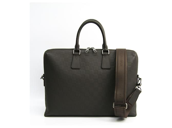 Louis Vuitton Louis Vuitton Brown Damier Infini Porte-Documents Jour Misc Leather,Other,Cloth,Cloth Brown,Dark brown ref.138186