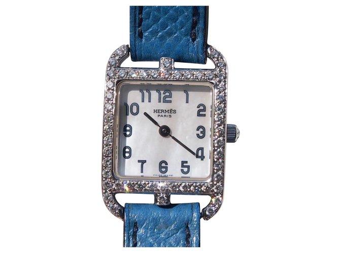 Hermès CAPE COD GOLD AND DIAMONDS Blue White gold  ref.138500