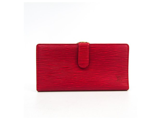 Louis Vuitton Louis Vuitton Red Epi Continental Viennois Misc Leather Red ref.138698