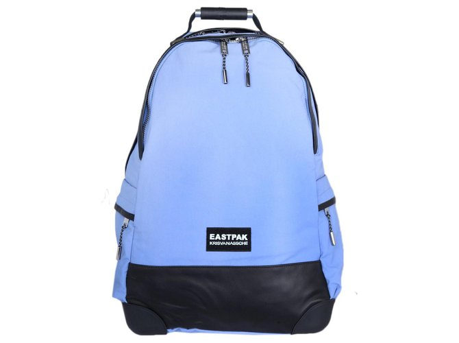 Kris Van Assche Hiking Backpack Eastpak Kris van Assche Bags Briefcases Nylon Black,Light blue ref.138840