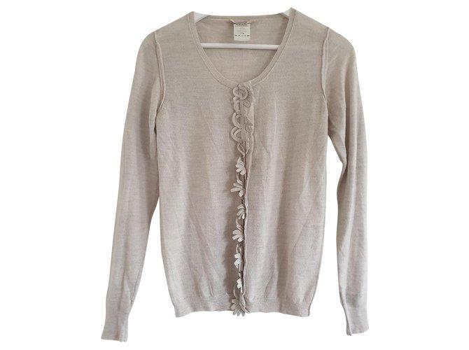 Chloé Fine wool knit jumper in pale grey Knitwear Wool Grey ref.138936