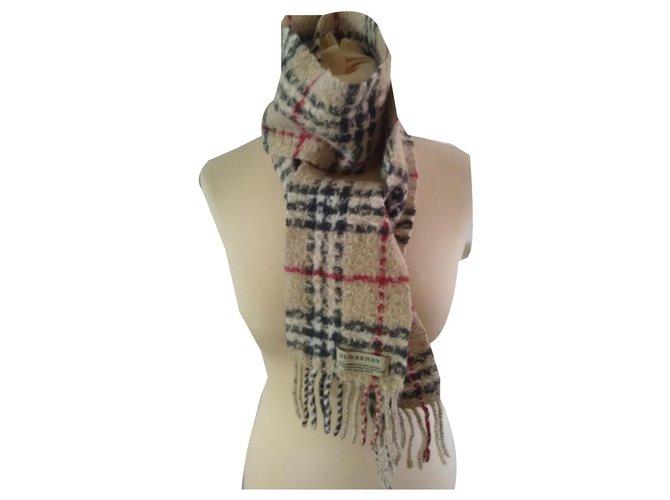 Burberry Scarves Scarves Wool,Angora Beige ref.139258