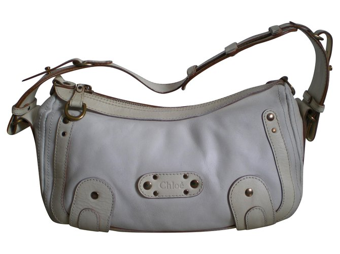 "Chloé Beautiful bag ""Chloe"" in very good condition Handbags Leather Eggshell ref.139277"