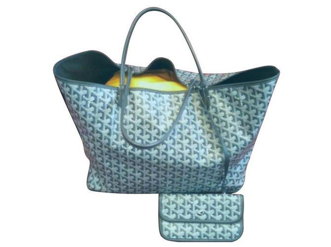 Goyard Anjou Gm Handbags Leather Dark grey ref.139328