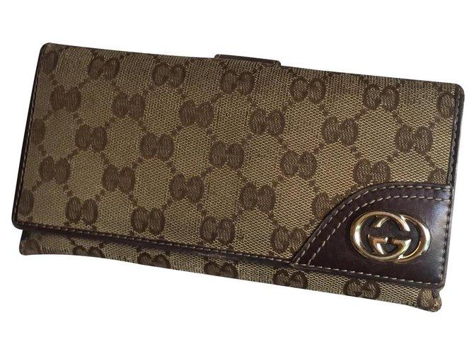 Gucci gucci Companion Wallets Cloth Beige ref.139452