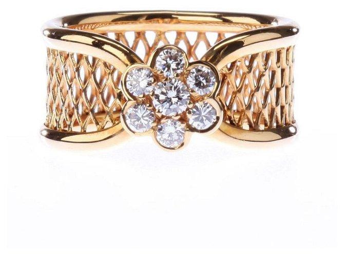 Bagues Van Cleef & Arpels Van Cleef & Arpels 18K Yellow Gold Diamond Fleurette Ring Or jaune Jaune ref.139750