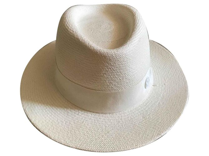 Maison Michel Andrew Hats Straw Eggshell ref.139774
