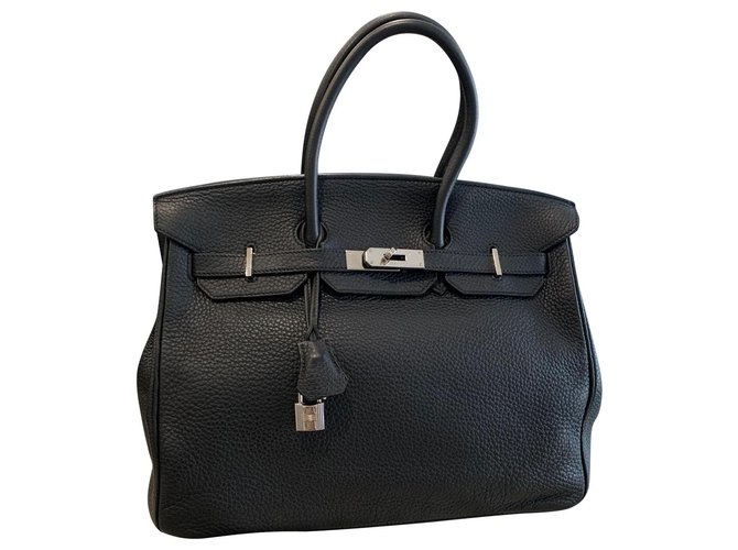 Hermès Handbags Handbags Leather Black ref.139990