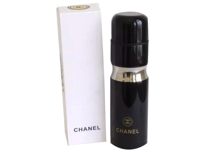 Chanel CHANEL Stainless Steel Thermos Tumbler Misc Steel Black ref.140018